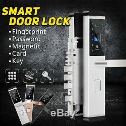 100 Group Fingerprint Electronic Smart Digital Door Lock Password Keyless Keypad