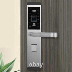 100 Groups Fingerprint Smart Door Lock Digital Password Touch Keyless Deadbolt