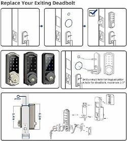 2020 NewSmart Door Lock, SMONET Smart Keypad Deadbolt Lock Bluetooth Keyless