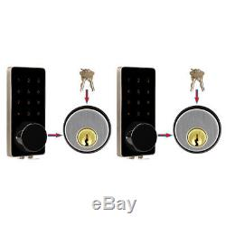 2X Smart Door Lock Bluetooth Keyless Lock Panel Real Time Monitoring Home Entry