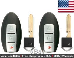 2x New Replacement Keyless Entry Key Fob For Nissan Smart Proximity CWTWB1U815