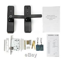 4 Way Fingerprint Electric Smart Door Lock Digital Password Touchcreen Keyless