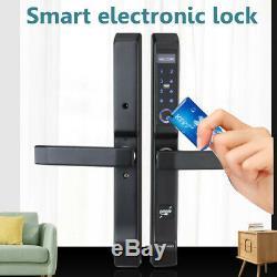 4 Ways Fingerprint Electric Smart Door Lock Digital Password ID Card Keyless UK