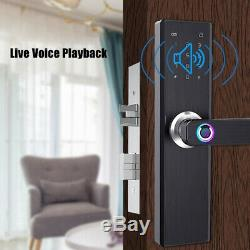 4 in 1 Smart Door Lock Keyless Security Fingerprint & Password Door Lock #@U