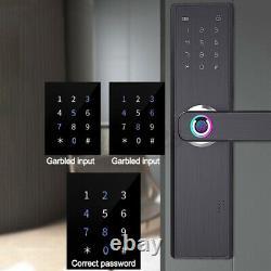 4 in 1 Smart Door Lock Keyless Security Fingerprint & Password Door Lock US