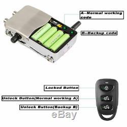 433MHz Security Keyless Wireless Smart Remote Control Anti-theft Door Lock+4 Key