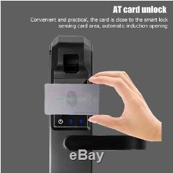 5 Way Fingerprint Electric Smart Door Lock Digital Password Touchcreen Keyless