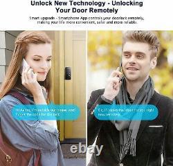 AIBOCN Smart Deadbolt Door Lock Keyless Entry Bluetooth Electronic APP Voice Key