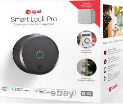 August Home Smart Lock Pro Door Keyless Access Powder Coated Dark Gray