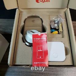 August Smart Lock + Connect BridgeWi-Fi, Keyless Home Entry Satin Nickel
