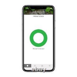 August Smart Lock Deadbolts Aluminum Electronic Keyless Bluetooth Dark Gray