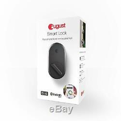August Smart Lock Keyless Home Entry with Your Smartphone Dark Gray