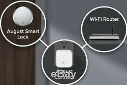 August Smart Lock + WIFI Connect Keyless Homewith Your Smartphone Dark Gray