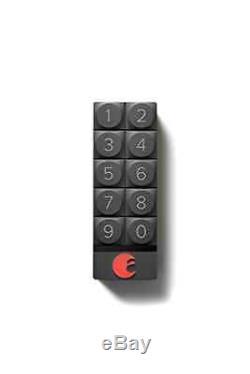 August Smart Security Keypad Door Lock Keyless Entry iOS Android App (Dark Gray)