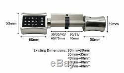 Bluetooh Smart Cylinder Lock Keyless Electronic Door Lock APP Wifi Lock