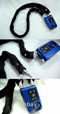 Bluetooth Smart Lock With Alarm Bicycle Motorcycle Keyless Padlock APP Control