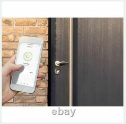 Bold Smart Lock SX-65 Keyless Smart Door Lock Cylinder Bluetooth Silver NEW