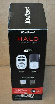 Brand New Kwikset 99380-001 Halo Wi-Fi Smart Lock Keyless Entry, Satin Nickel