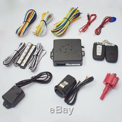 Car Engine Fingerprint Entry Start Stop Ignition Remote Push Button Lock Keyless