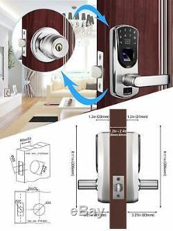 Door-Lock-Keypad-Keyless-Entry-Electronic-Smart-Digital-Fingerprint-Deadbolt-US