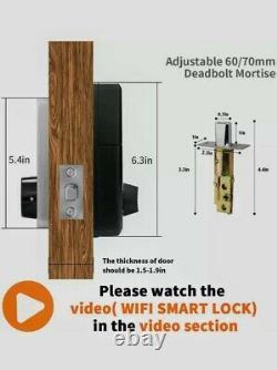 Door Lock WiFi Smart Lock, Smart Electronic Door Lock with keyless, Touchscreen