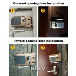 Electric Smart Keyless Door Lock Anti-theft PhoneBluetooth With Remote Control