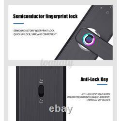 Electronic Digital Fingerprint &Password Door Lock Smart Security Entry Keyless