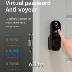 Electronic Fingerprint Door Lock Touch Password Keyless Smart Digital Keypad ^