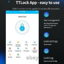 Electronic Fingerprint Door Lock Touch Password Keyless Smart Digital Keypad #