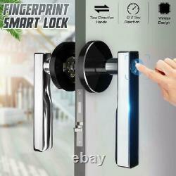 Electronic Fingerprint Smart Handle Door Lock Security Keyless USB Rechargeable