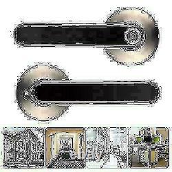 Electronic Smart Door Lock Handle Fingerprint Bluetooth Password APP Keyless SS