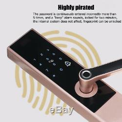 Electronic Smart Door Lock Keyless Digital Password Fingerprint APP