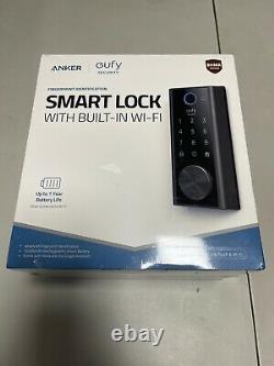 Eufy Smart Lock Touch & Wi-Fi, Fingerprint Scanner Keyless Entry Door Lock New