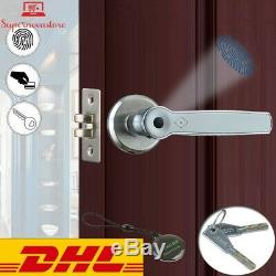 FREE DHLBiometric Fingerprint Lock Smart 13.56Mhz IC Card Knob Deadbolt Keyless