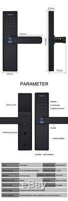 Fingerprint Door Lock IC Card Finger Password Smart Lock Keyless Entry Securtiy