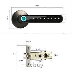 Fingerprint Door Lock Smart Bluetooth Keyless APP Unlock Works with iOS/Android
