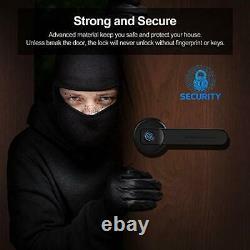 Fingerprint Door Lock, Smart Lock Biometric Keyless Entry Door Handle  Black