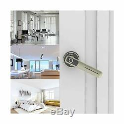 Fingerprint Electric Smart Entry Door Lock Biometric Keyless Handle Silver New