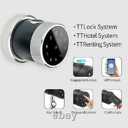 Fingerprint Smart Door Handle Lock Keyless Touchscreen Great for Airbnb Home