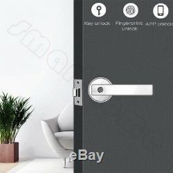 Fingerprint Smart Door Lock Biometric Keyless Entry WiFi Bluetooth APP Unlock
