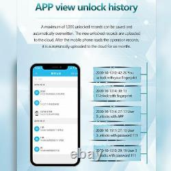 Glass Door Smart Electronic Lock Fingerprint APP Password IC Card NFC Keyless