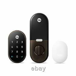 Google Nest x Yale Smart Lock Keyless Keypad Deadbolt Front Door Rubbed Bronze