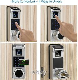 Harfo K1 Fingerprint Door Lock, Keyless Entry Door Lock, Smart Door Lock, Keypad Lo