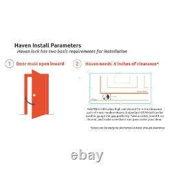 Haven Connect Bluetooth Smart Door Lock Keyless Indicator Light Black Steel