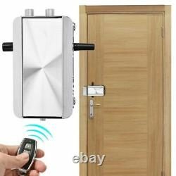 Home Door Lock Kit 4 x Remote Control Keyless Entry Electronic Lock Smart Wire