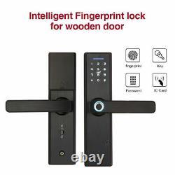 Intelligent Fingerprint Smart Door Lock Biometric Deadbolt Keyless For Securtiy