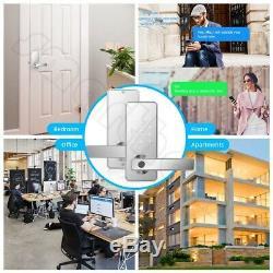 Keyless Entry Door Lock Smart Biometric Fingerprint Door Handle with Bluetooth