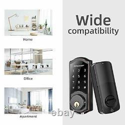 Keyless Entry Door Lock with Keypads, Smart WiFi Deadbolt, Digital Electronic Bl