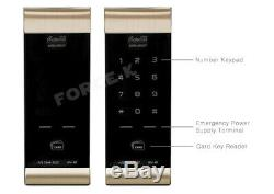 Keyless Lock Gateman Digital Door Lock WV-41 Smart Security Entry Pin+RFID-Gold