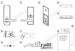 Keyless Lock Milre MI-5500S Digital Doorlock Smart Security Entry Passcode+RFID